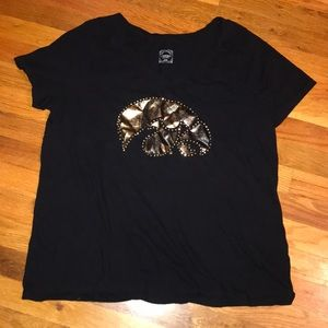 Iowa Hawkeyes Embellished Tee